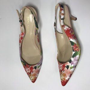 Marc Fisher Tiffani Floral Slingback Heel / Shoe 7